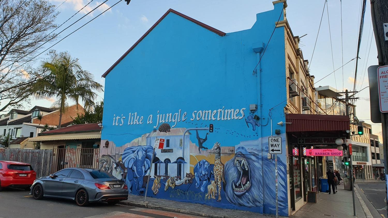 Bailey Street (North) Newtown Street Art Sydney Art Out Live