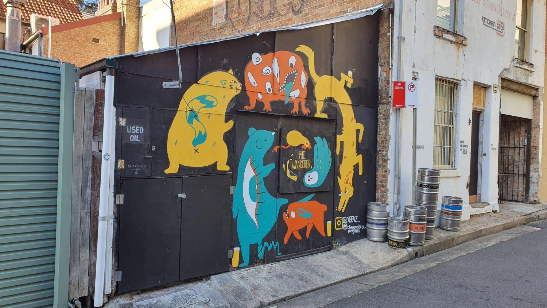 Elizabeth Street Surry Hills Street Art Sydney Art Out Live