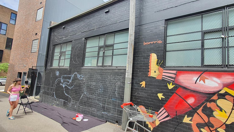Hudson Street Redfern Street Art Sydney Art Out Live Aley Wild Mural 1