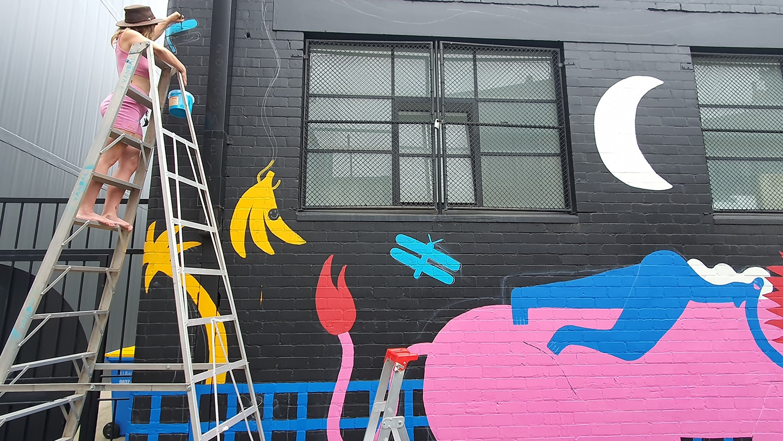 Hudson Street Redfern Street Art Sydney Art Out Live Aley Wild Mural 10