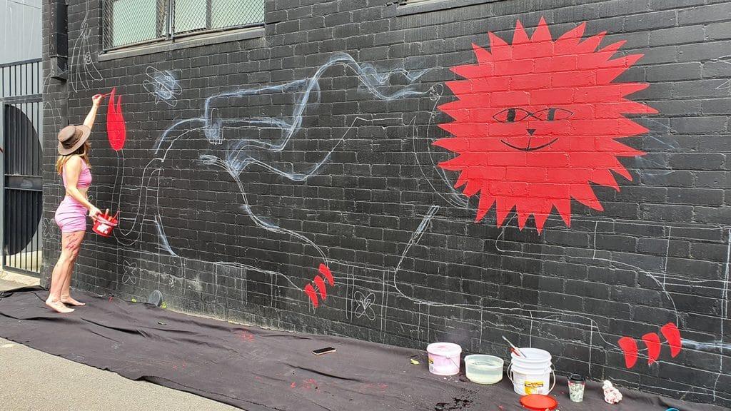 Hudson Street Redfern Street Art Sydney Art Out Live Aley Wild Mural 3