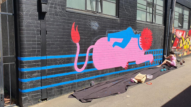 Hudson Street Redfern Street Art Sydney Art Out Live Aley Wild Mural 7