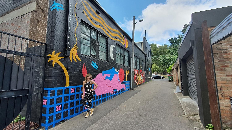Hudson Street Redfern Street Art Sydney Art Out Live Aley Wild Mural