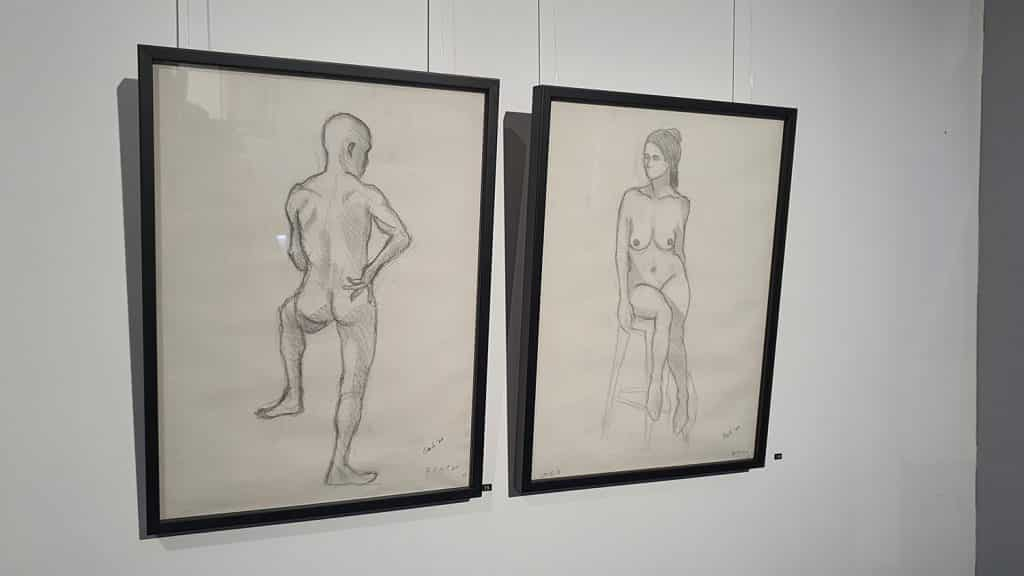 Peach Black Chippendale Gallery Life Drawing Club Exhibition November 2020 Sydney Art Out Live (11)