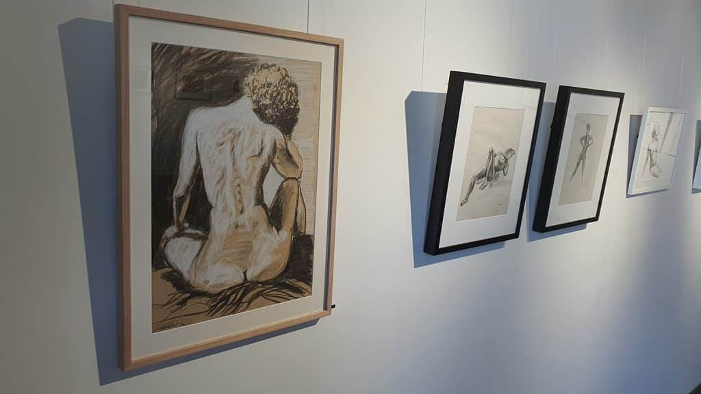 Peach Black Chippendale Gallery Life Drawing Club Exhibition November 2020 Sydney Art Out Live (12)