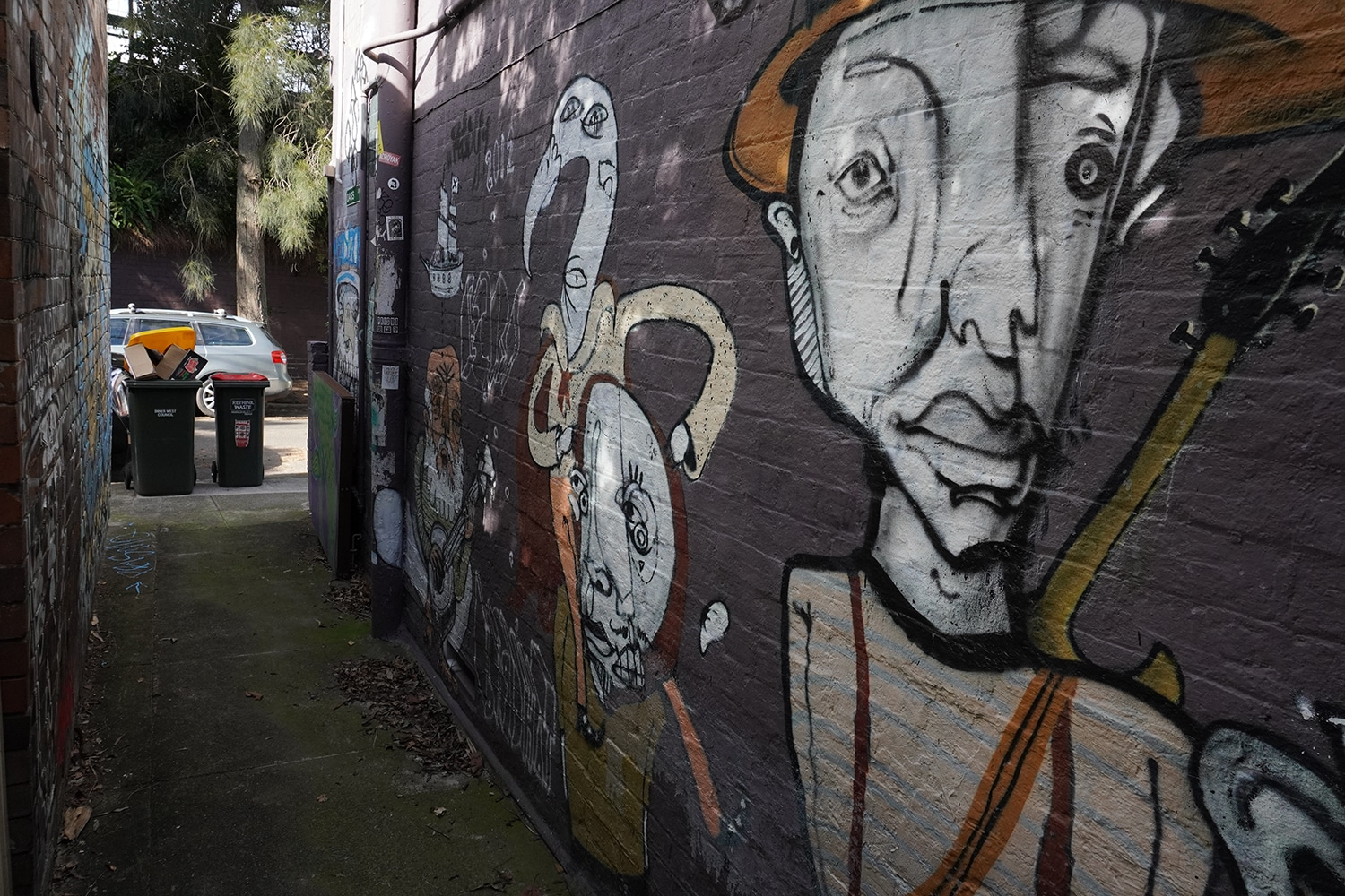 Dass Lane Enmore Street Art Sydney Art Out Live 4 Captain Earwax