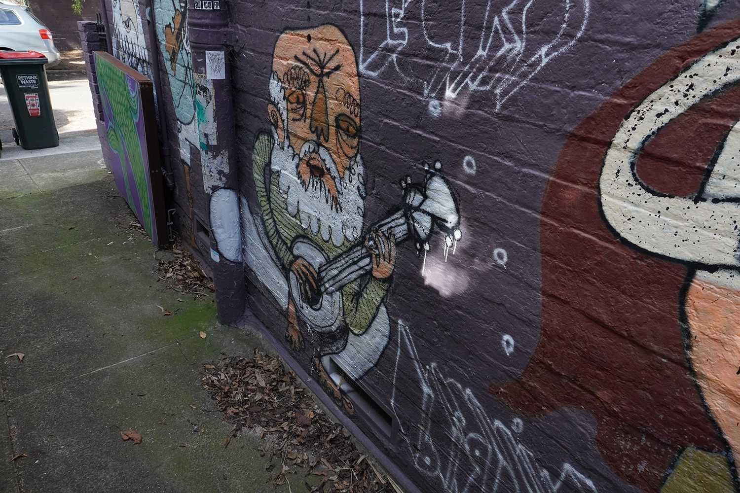 Dass Lane Enmore Street Art Sydney Art Out Live 5 Captain Earwax