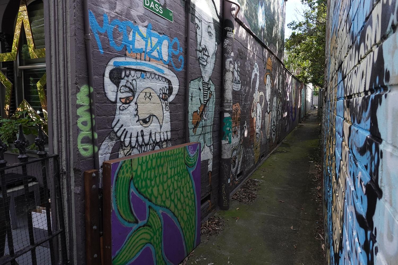 Dass Lane Enmore Street Art Sydney Art Out Live Captain Earwax